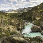 River near El Calafate, Patagonia, Argentina